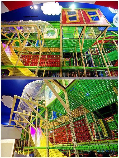 爬爬客親子樂園三層樓繩網迷宮遊戲區