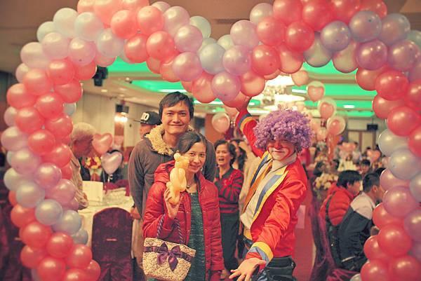 皓鎮&宜蓁魔幻婚禮喜宴魔術表演、氣球小丑表演、婚禮佈置、婚禮主持