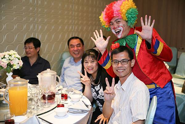 浩廷&敏儀花壇wedding魔術表演、氣球小丑