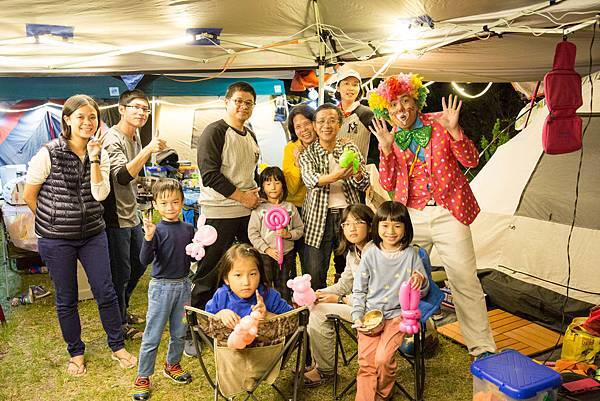 苗栗風露營家庭日氣球小丑