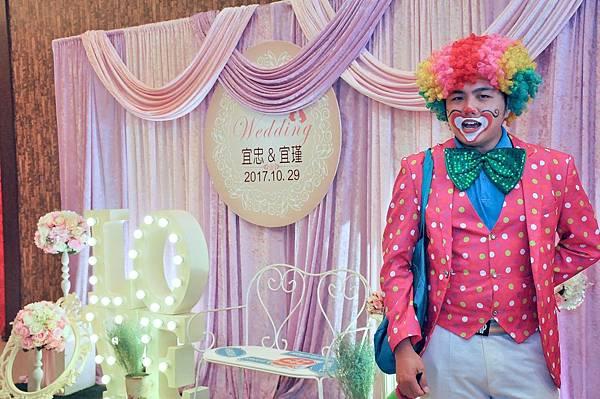 李怡忠、李宜璟魔幻婚禮迎賓小丑、魔術表演、樂團演唱