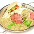 南餅生菜佐泰式咖哩蟹