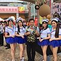 高雄市政府職業安全衛生日活動主持人+小丑姐姐折汽球 (2).JPG