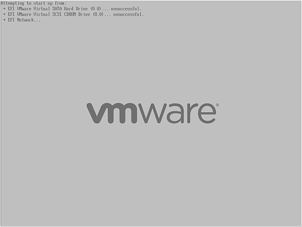 VMware BIOS Boot Sequence