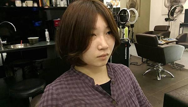台北東區小隆推薦染髮,珍珠奶茶色magic salon