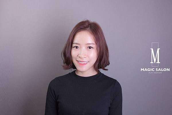 台北東區髮型設計師魔髪小隆剪髮燙髮染髮作品