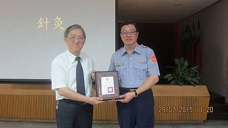 國道公路警察局長敦聘溫崇凱中醫師健康顧問