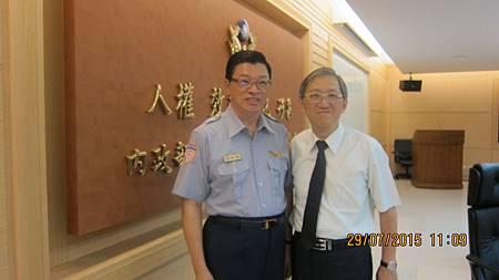 國道公路警察局長敦聘溫崇凱中醫師健康顧問2