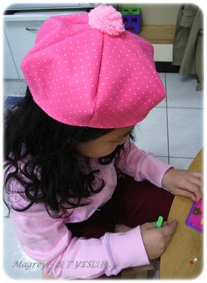 粉色貝蕾帽.JPG