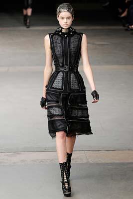 Alexander McQueen F/W 2011 - Julia Saner