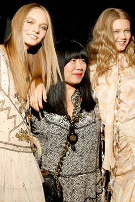 Anna Sui S/S 2011 : Nimue Smit,Anna Sui & Lindsey Wixson