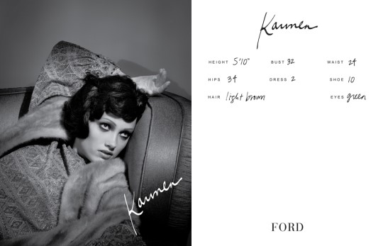Show Packages-NY SS 11: Ford Models - Karmen Pedaru