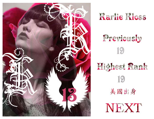13.Karlie Kloss