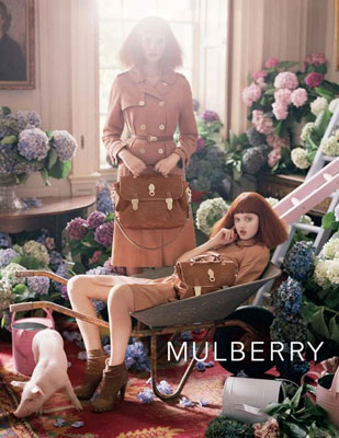 Mulberry S/S 2011 : Lindsey Wixson & Nimue Smit