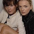 Irina Lazareanu and Lily Donaldson