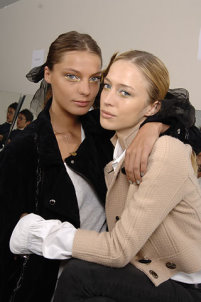 Raquel Zimmerman and Daria Werbowy