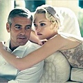 Gemma Ward and George Clooney