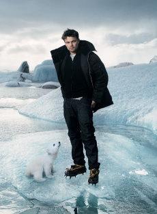 Leonardo DiCaprio and Knut