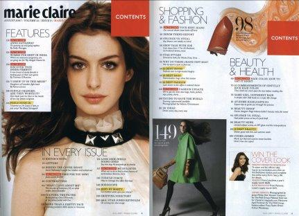 Marie Claire - Anne Hathaway