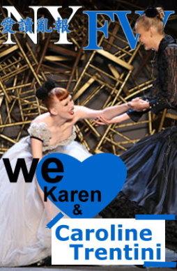 NYFW - Karen Elson & Caroline Trentini