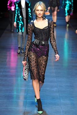 Dolce & Gabbana F/W 2011 -Candice Swanepoel