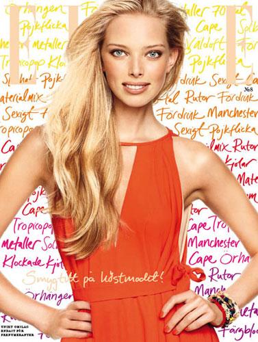 Elle Sweden August 2011 : Tanya Dziahileva