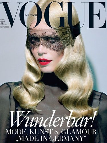 Vogue Germany August 2011 : Claudia Schiffer