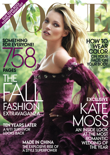 Vogue September 2011 : Kate Moss