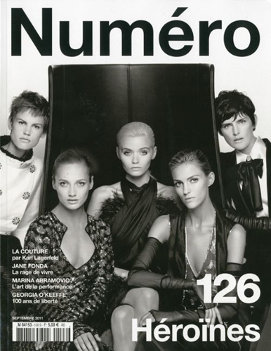 Numéro #126 September 2011:Saskia de Brauw,Karmen Pedaru,Abbey Lee,Anja Rubik and Stella Tennant