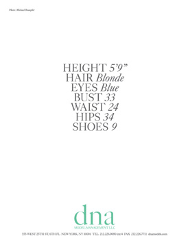 Show Packages-NY SS 12: DNA Models - Siri Tollerod