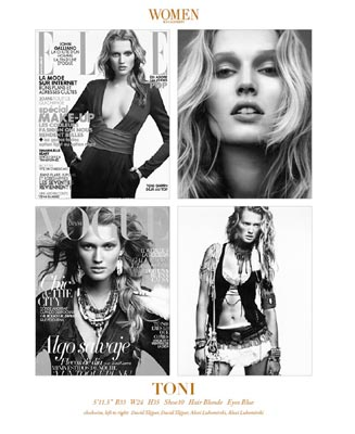 Show Packages-NY SS 12: Women - Toni Garrn