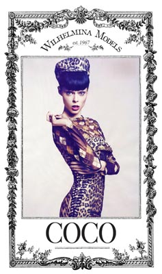 Show Packages-NY SS 12: Wilhelmina - Coco Rocha