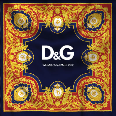 Invitation to the D&G Womenswear S/S 2012 Fashion Show