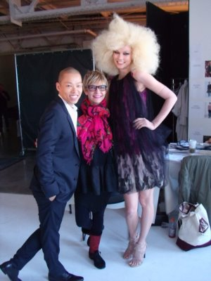 behind-the-scenes Jason Wu & Karlie Kloss's CDFA shot