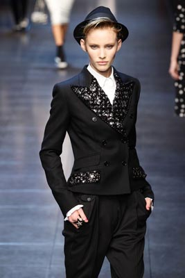 Dolce & Gabbana F/W 2011 - Emily Baker
