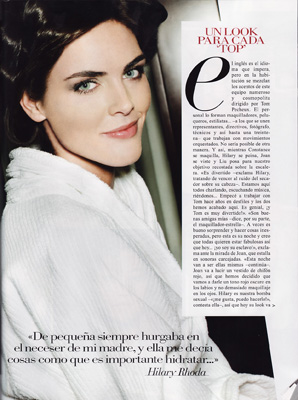 Vogue Spain April 2011 - Hilary Rhoda