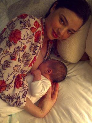 Miranda Kerr with her son Flynn