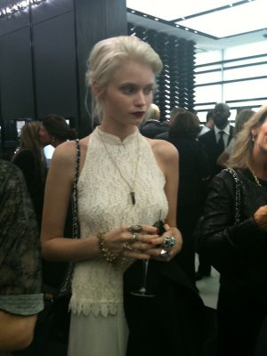 Abbey Lee at the re-opening party for the Chanel Soho store