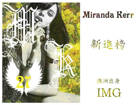 27.Miranda Kerr