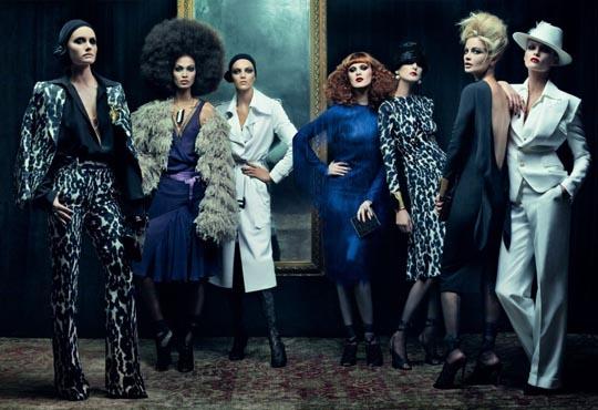 Vogue December 2010 - Amber Valletta,Joan Smalls,Anja Rubik,Karen Elson,Stella Tennant,Carolyn Murphy & Edita Vilkeviciute