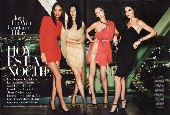 Vogue Spain April 2011 - Joan Smalls, Liu Wen, Constance Jablonski, Hilary Rhoda