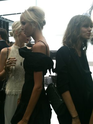 Anja Rubik and Freja Beha Erichsen at the re-opening party for the Chanel Soho store