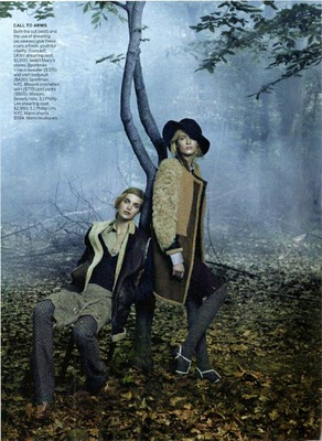 Vogue August 2010:Daria Strokous & Mirte Mass