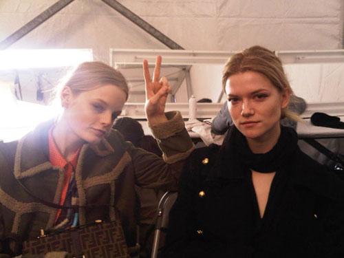 Michael Kors F/W 2011 - Hanne Gaby Odiele & Kasia Struss