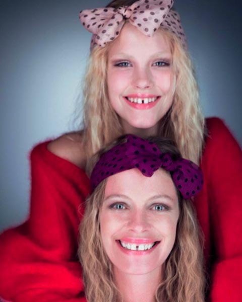 Maison Michel Spring 2011 Lookbook - Ashley Smith & Tanga Moreau