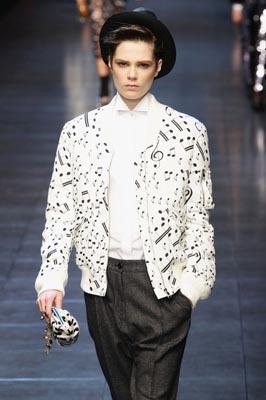 Dolce & Gabbana F/W 2011 - Caroline Brasch Nielsen