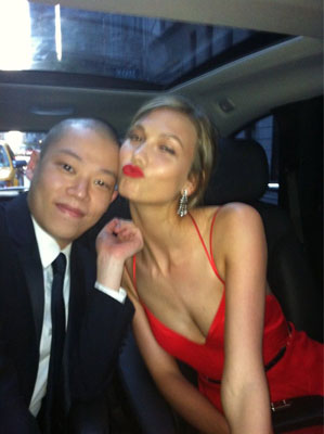 2011 CFDA Fashio Awards - Karlies Kloss & Jason Wu