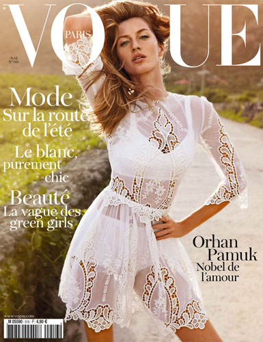 Vogue Paris April 2011:Gisele Bundchen