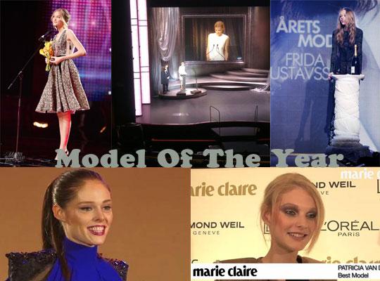 Model Of The Year : Vlada Roslyakova,Lara Stone,Frida Gustavsson,Coco Rocha & Patricia van der Vliet