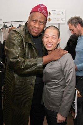 Jason Wu F/W 09 - Andre Leon Talley & Jason Wu
